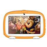 SO-buts Android 6.0 Touch Kids Tablet,7-Zoll Quad-Core Tablet,Maximaler erweiterter Speicher 32 GB,HD-Display Dual-Kamera WiFi Bluetooth Geeignet für Kinder, (Orange)