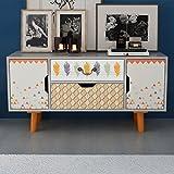 tidyard Mesa para TV con Diseño Escandinavo,Mueble Comedor,Aparador,Mueble Auxiliar,Mesa Baja,Cómoda con 2...