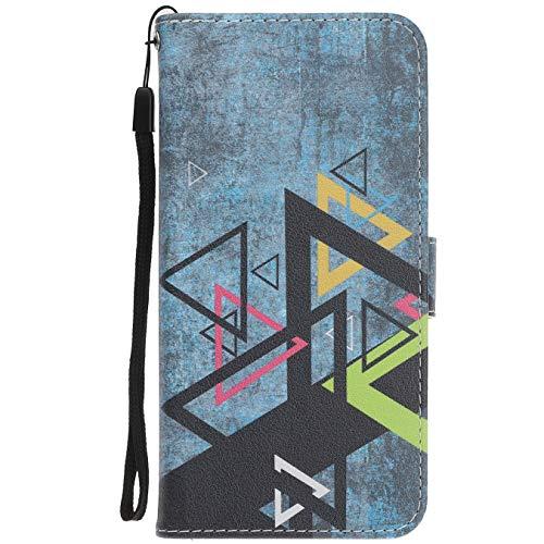 Langlee Für Wiko U Feel Lite Hülle, PU Ledercase Tasche Hüllen Schutzhülle Magnetverschluss Handyhülle Standfunktion Handycover - Design Nr. 5