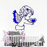 xingbuxin Adesivo murale Adesivi murali a Forma di Cuore Angelo per camerette Interni Rimovibili Cameretta per Bambini Decorazioni per la casa Art Cartoon 3 42x44cm