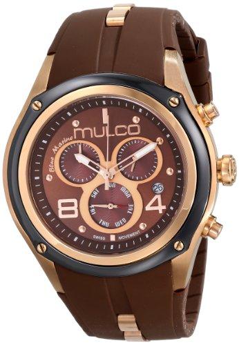 Mulco MW1-29902-035 - Reloj unisex, correa de goma color marrón