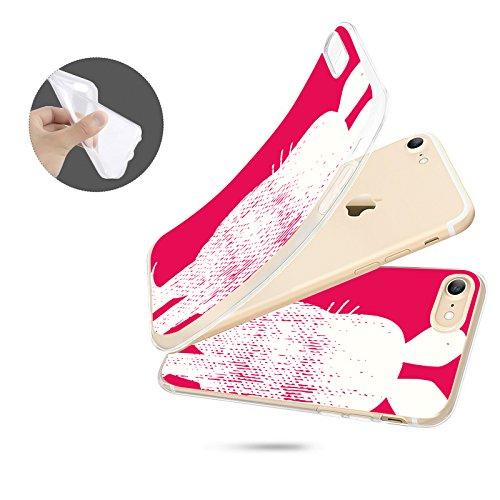 FINOO | Iphone SE Silikon-Handy-Hülle | Transparente TPU Cover Schale | Tasche Case mit Slim Rundum-schutz | stoßfester dünner weicher Bumper | Sendung mit der Maus Motiv | Maus schwarz Maus pink