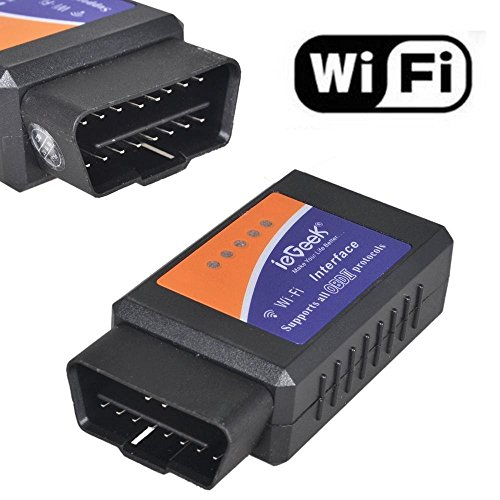 ieGeek OBD WiFi OBD2 Mini Wireless Adapter Scanner Fehlercode Auto Diagnose...