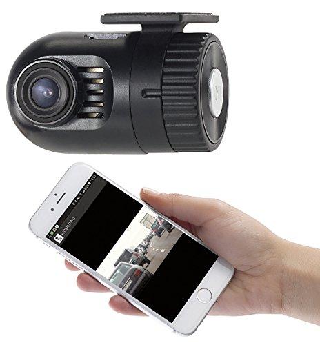 NavGear Dashcam kabellos: Mini-HD-Dashcam MDV-1600.av mit G-Sensor, WLAN und Smartphone-App (Dashcam versteckt Einbauen)