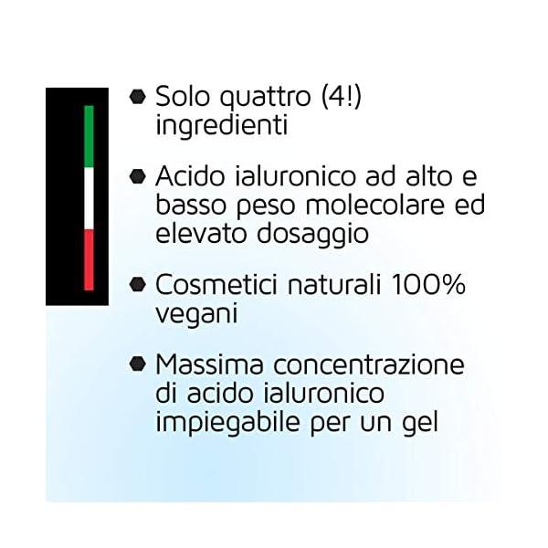 Suero de ácido hialurónico vegano en altas dosis – Antienvejecimiento + Antiarrugas, que complementa de forma óptima las almohadillas de ácido hialurónico de su piel – 50ml