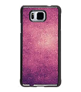 Fiobs High Glossy Designer Phone Back Case Cover Samsung Galaxy Alpha :: Samsung Galaxy Alpha S801 :: Samsung Galaxy Alpha G850F G850T G850M G850Fq G850Y G850A G850W G8508S :: Samsung Galaxy Alfa ( Purple Royal Pattern Design )