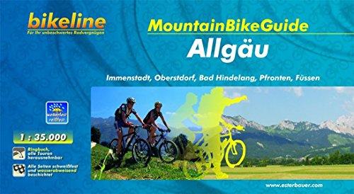 bikeline MountainbikeGuide Allgäu: Immenstadt, Oberstdorf, Bad Hindelang, Pfronten, Füssen, 750 km, 1:35.000, 750 km, wetterfest/reißfest, GPS-Tracks-Download