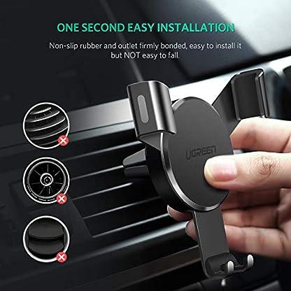 UGREEN-Autohalterung-Lftung-Handyhalterung-Auto-Lftungsschlitz-Halterung-Universal-KFZ-Halter-360-Drehbar-Air-Vent-Phone-Holder-fr-iPhone-X-8-Plus-7-Samsung-S9-S8-A5-Huawei-P20-usw-Schwarz