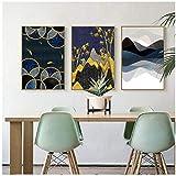 HUIGEFANBUHUA Stampa su Tela Stampa Decorazioni per la casa Arte per pareti Montagne astratte Immagini per L'Albero Nordic Acquerello Poster per soggiorno-50x70cm Senza Cornice
