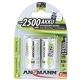 ANSMANN maxE Baby C Akku 2500mAh (2er Pack) vorgeladene ready2use NiMH Power Akkubatterie Babyzelle mit geringer Selbstentladung