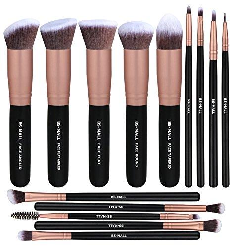 Premium 14PCS Synthetisches Foundation Puder Concealer Eye Schatten Silber Schwarz Make-up-Pinsel...