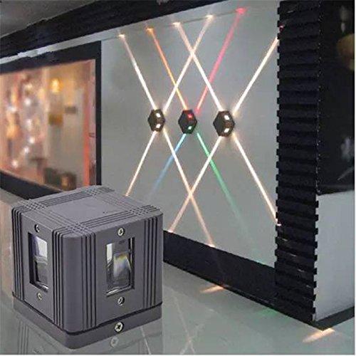 elegantstunning 4W LED Wandleuchte Leuchte Cross Starlight Lampe im Freien wasserdichte Gebäude Außen Dekor Licht -