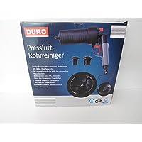 DURO Pressluft Rohrreiniger inkl. 3 Abfluss-Aufsätzen 1 WC-Stutzen und Anleitung
