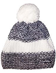 Eisbär Styler–Gorro con pompón, Otoño-invierno, unisex, color schwarz/Weissmele/White, tamaño S, M, L o XL