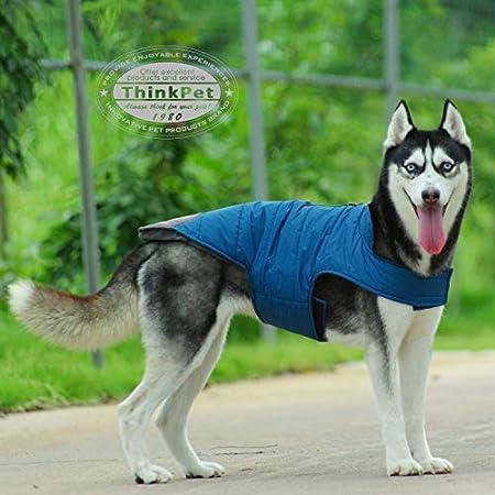 ThinkPet Heat Reflektierende Hund Outdoor Jacke Hundemantel wasserdichte Weste mit Reflexstreifen Sport Abenteuer Gear…