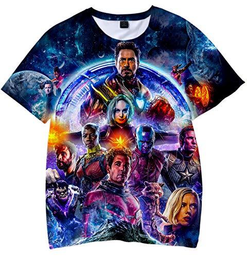 9c448f6bf Niños 3D HD Print T-Shirt Avengers Endgame Camiseta de Manga Corta para  Niños y
