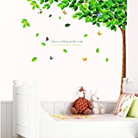 YESURPRISE Vinilo Decorativo Adhesivo Pegatina Pared Azulejo Para Sala Cocina Dormitori Árbol Verde