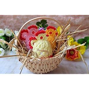 Ostern häkeln Ei wärmer Huhn Satz von 3 Dekor Geschenk Abdeckung