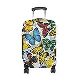 COOSUN Bunte Schmetterlings-Muster-Druck-Reise-Gepäck-Schutzabdeckungen Waschbar Spandex Gepäck Koffer Cover - Passend für 18-32 Zoll L 26-28 in Mehrfarben