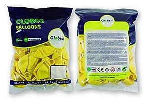Globest- Globos de látex decoración, Color amarillo (Festival 50333)