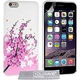 Yousave Accessories Zubehör Blumen Biene Silikon Gel Schutzhülle für iPhone 6Plus