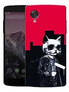 "Humor Gang Pussy Cat HippiePrinted Designer Mobile Back Cover For ""Lg Google Nexus 5"" (3D, Matte Finish, Premium Quality, Protective Snap On Slim Hard Phone Case, Multi Color)…"