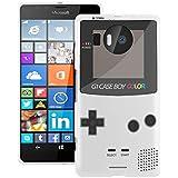 Etui de créateur pour Microsoft Lumia 950 - Etui / Coque / Housse de protection blanc en Silicone / Gel / TPU avec motif cool gameboy couleur