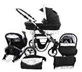 Chilly Kids Dino 3 in 1 Kinderwagen Set 48 Schwarz