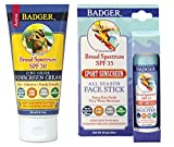 Badger SPF34 Sunscreen (2.9 oz) and Badg...