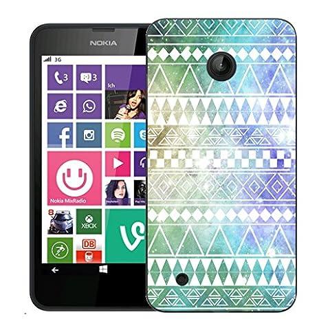 Mobile Case Mate Nokia Lumia 530 clip on Dur Coque couverture case cover - spring aztec Motif