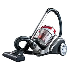 BISSELL PowerForce Compact Cylinder Vacuum Cleaner Powerful Suction 700w Bagless Hoover, 2Ltr Easy Empty Dirt Container, Lightweight Multi-Floor with 5 Meter Cable Cord 1539A