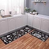 AOLVO Non-slip Kitchen Runner Rug Doormat, High Density Velvet Runner Carpet Mat Kitchen