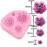 Albeey 3D Rose Silikon Fondant Form Kuchenform Kuchendekoration Mold
