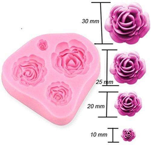 Albeey 3D Rose Silikon Fondant Form Kuchenform Kuchendekoration Mold (Rose Form 3d)