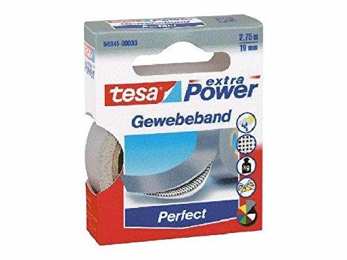Gewebeklebeband extra Power Gewebeband, 2,75 m x 19 mm, grau(Liefermenge=2)