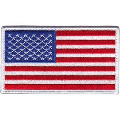AMERICAN Application AnwendungPRIDE FLAGS US Flag Patch Fleck Iron-On / Sew-On Officially Licensed American Patriot Pride / Flag Artwork, 2.25