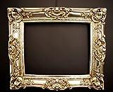 Barock Bilderrahmen Silber 60x70/ 40x50 cm (Antik) Im Retro-Vintage look. In Handarbeit hergestellt für Künstler, Maler. Idealer Gemälde-Rahmen für Ausstellungen STAR-LINE® -