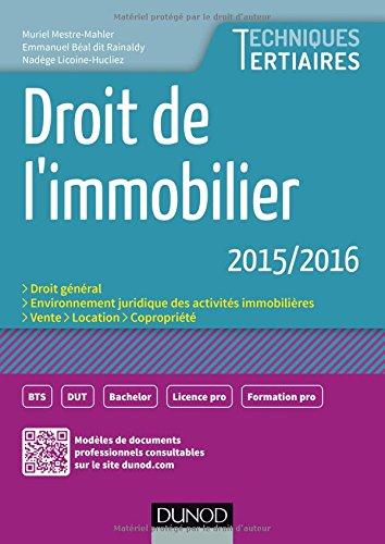 Droit de l'immobilier 2015/2016