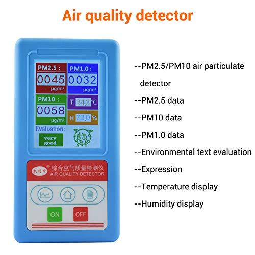 Multifunktionaler Innenluft-Qualitätsmesser, Gas-Monitor, mit PM2.5/PM1.0/PM10/Temperatur/Luftfeuchtigkeits-Anzeige -