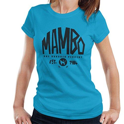 Mambo Established 1984 Dark Text Women's T-Shirt Sapphire