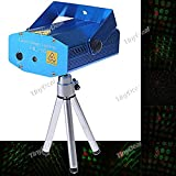 Sound Activated Disco Music Stage Mini Laser Projector Light with Red Green Light for Party Disco Club FLP-65984