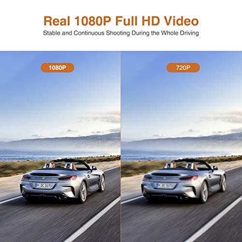 51kRquiQf%2BL - Thieye Cámara de Coche WiFi Dash CAM 1080P Full HD 170 Ángulo con WDR G-Sensor, Detección de Movimiento, Grabación en Bucle, Visión Nocturna, Monitor de Aparcamiente
