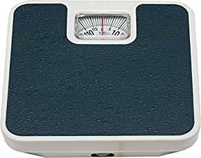 Aufers Virgo Personal Weighing Scale Analog Mechanical Machine | Square Display Large Surface Personal Analog Weighing Scale | Digital Weight Machine | Weight Machine | Body Weighing Scale (Blue)