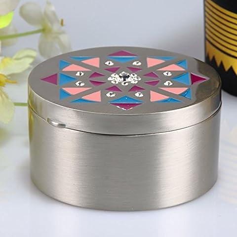 cadeaux d'artisanat en métal boîte de rangement couleur créatif européen émail rétro décoration de la maison de décoration , tin circular geometry