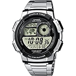 Casio Collection Reloj Digital para Hombre con Correa de Acero Inoxidable – AE-1000WD-1AVEF