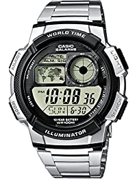 Casio Collection – Reloj Hombre Digital con Correa de Acero Inoxidable – AE-1000WD-1AVEF