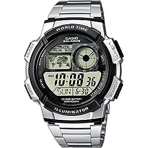 Casio Collection – Herren-Armbanduhr mit Digital-Display und Edelstahlarmband – AE-1000WD-1AVEF