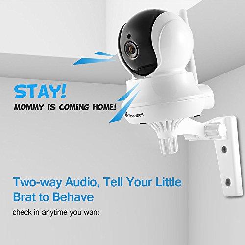 Houzetek Dome-Überwachungskamera / IP Kamera, HD, 720p, WLAN-Kamera, Baby-Monitor, Innenkamera für drahtlose Sicherheit, mit Audio bidirektional, Nachtsicht, Bewegungserkennung, 4-fach Zoom