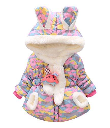 Rebavl Baby Mädchen Niedlich Tier Jacken mit Hoddie Warm Fleece Lange Ärmel Outfits zum Kinder Größe (Outfits Für 50 Kinder)