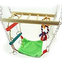 UKCOCO Hamster Parrot Hammock Climber Ladder Swimg Cama para Gerbil Rat Mouse Small Animal (Color Aleatorio)